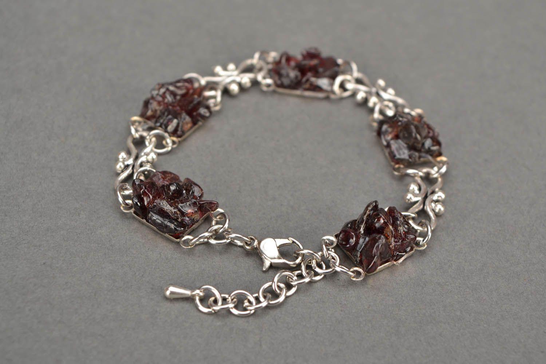Bracelet with garnet photo 5