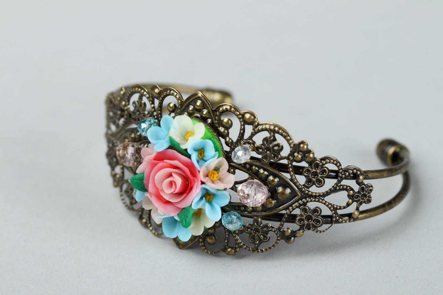 Bracelet made of polymer clay photo 1