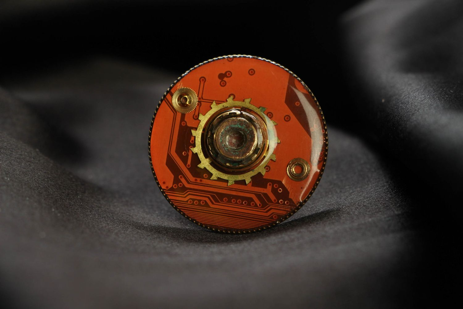 Large metal ring in cyberpunk style photo 2