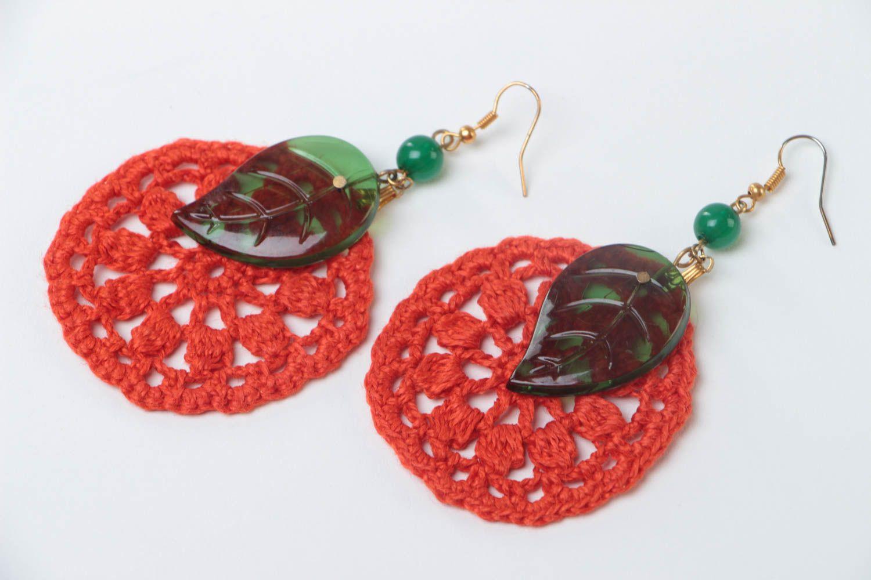 Beautiful handmade jewelry stylish cute accessory designer unusual earrings photo 2