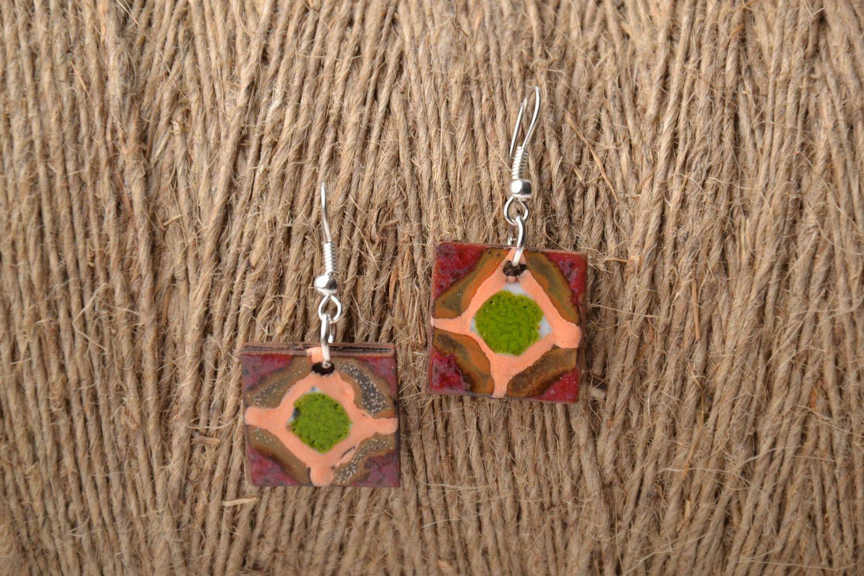 Ethnic ceramic earrings photo 1