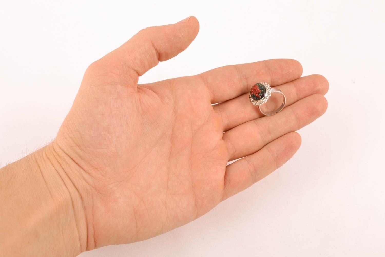 Handgemachter Ring aus Polymer Clay foto 4