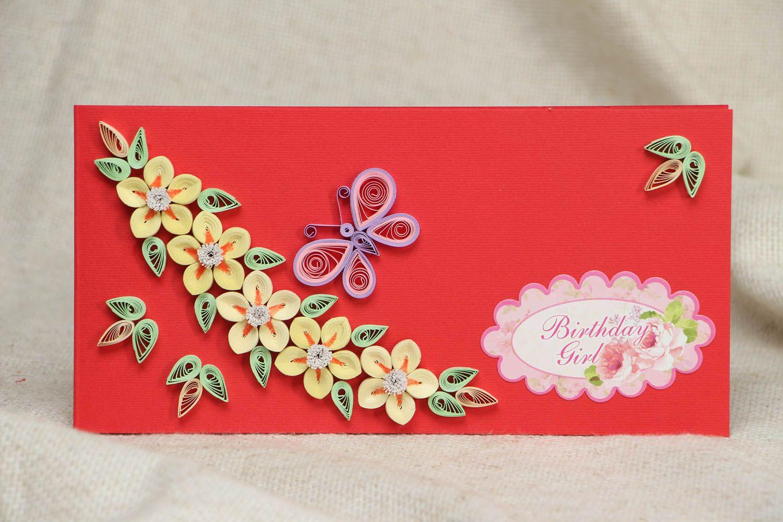 Днем девочек, праздничные открытки из квиллинга