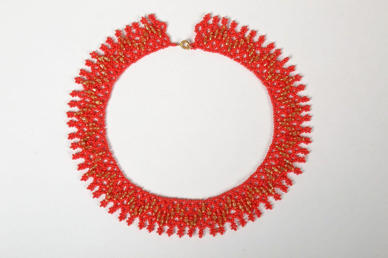 Handmade beaded necklace photo 2