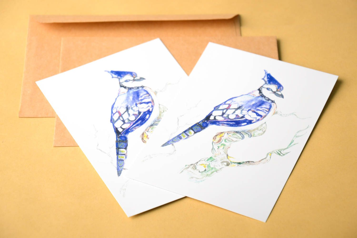 Handmade greeting cards unusual cards designer greeting cards set of 2 items photo 1