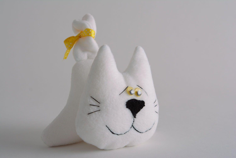 Soft fabric toy White Cat photo 1