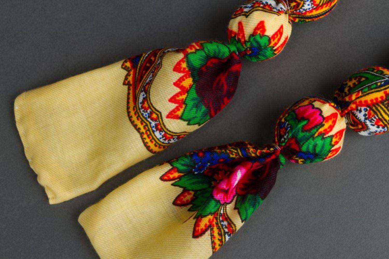 Bead necklace made of Ukrainian scarf photo 1