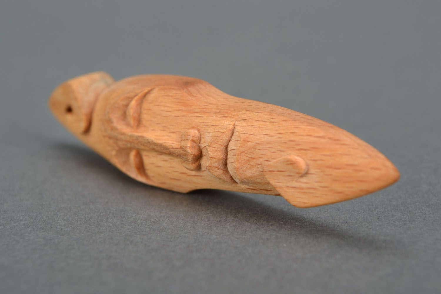 Pendant made of wood in the form of a mask photo 5
