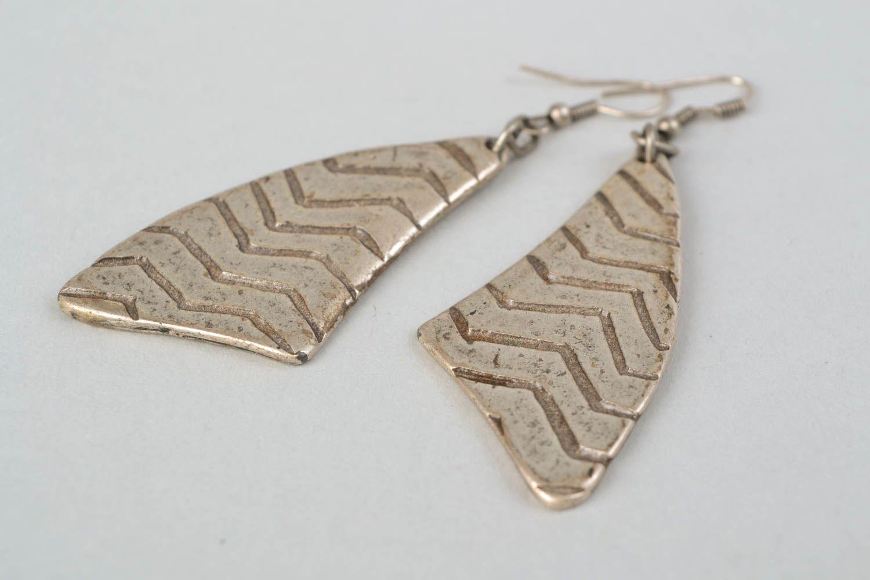 Long earrings made of hypoallergenic metal Stroke of Luck photo 4
