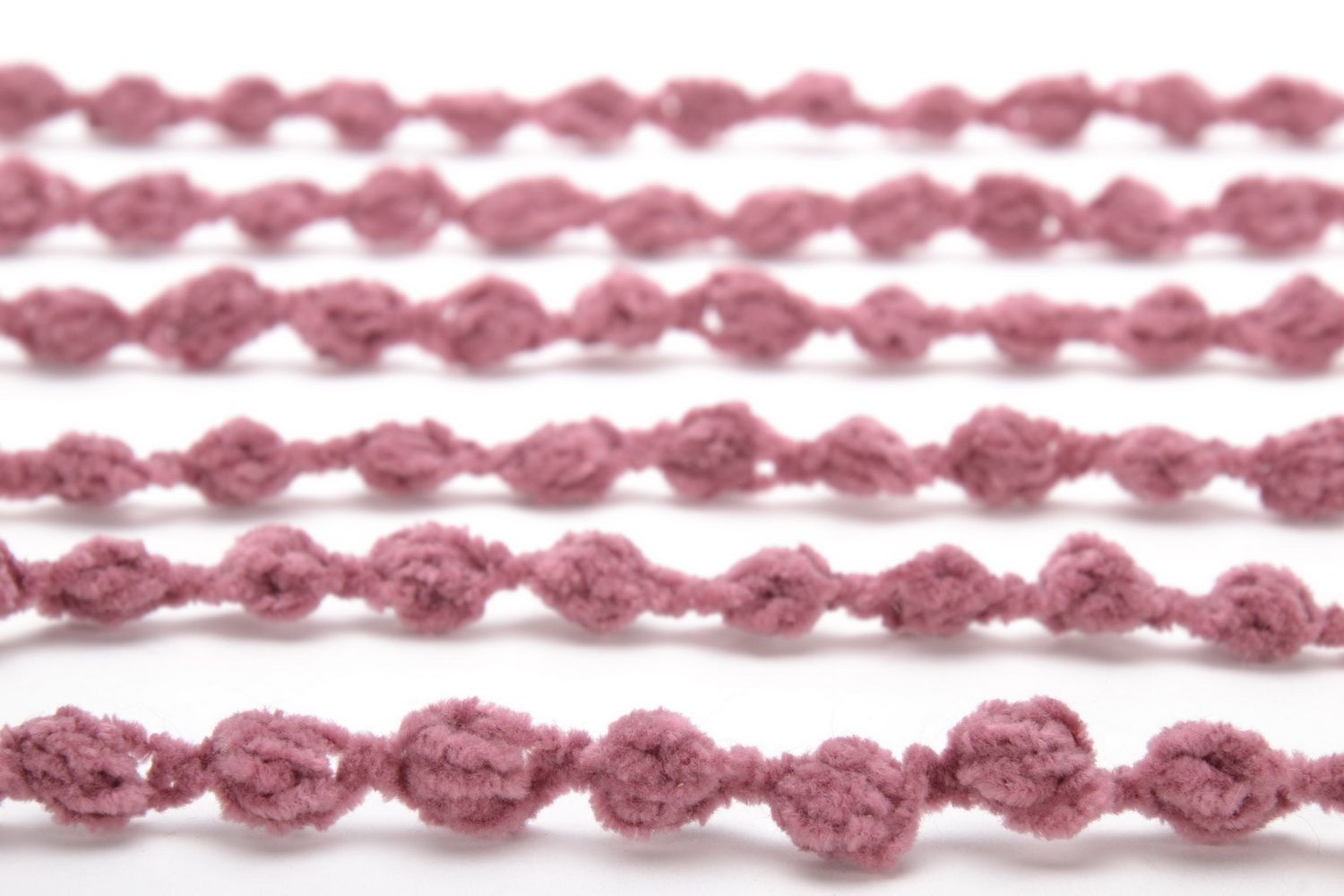 Crochet multi-row necklace photo 2