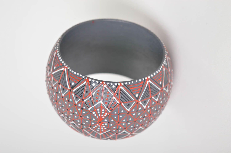 Holz Armband handgemachter Schmuck Damen Armband Geschenk für Frauen breit schön foto 4
