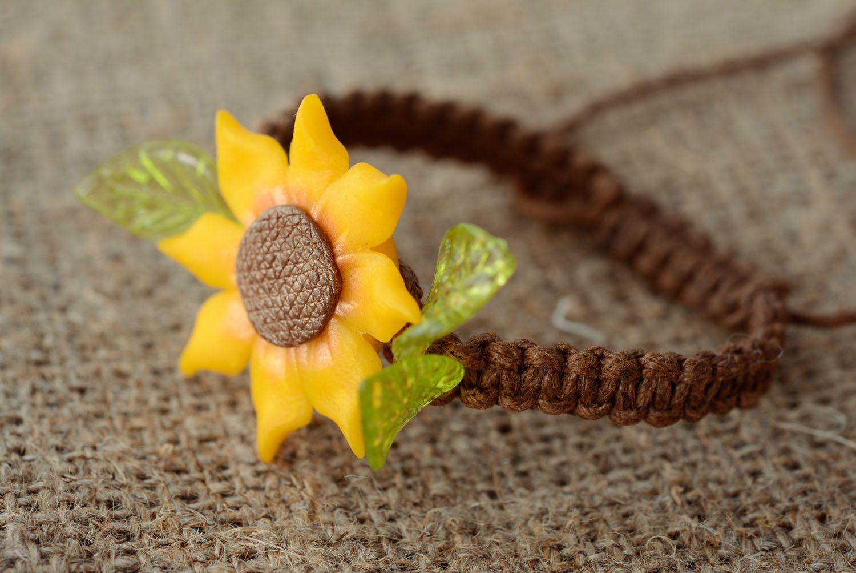 Handmade Armband mit Blume foto 1