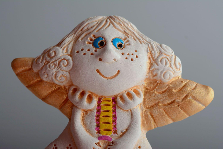 Homemade ceramic fridge magnet Angel photo 2