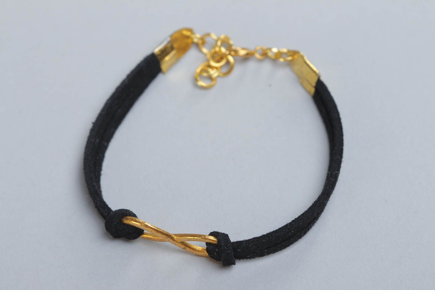 charm bracelets Beautiful festive handmade woven suede cord bracelet of black color with charm - MADEheart.com
