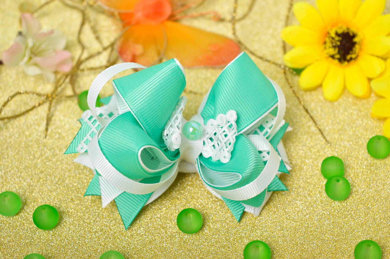 Handmade girls hair bow hair scrunchie bow hair tie designer accessories photo 1