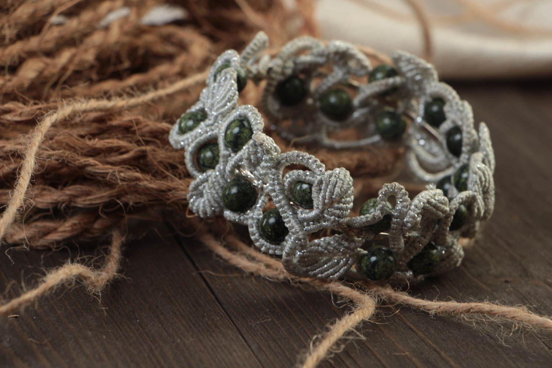 Armband aus Stoff handgemacht Damen Armband effektvoll Schmuck für Frauen foto 1