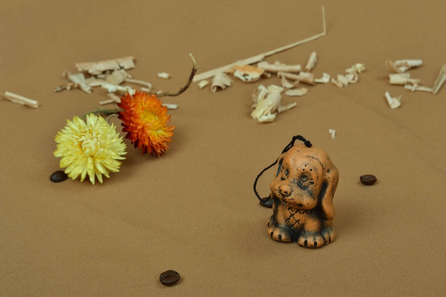 Designer ceramic bell in the shape of puppy photo 4
