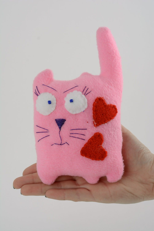 Fabric fleece toy Cat in Love photo 4