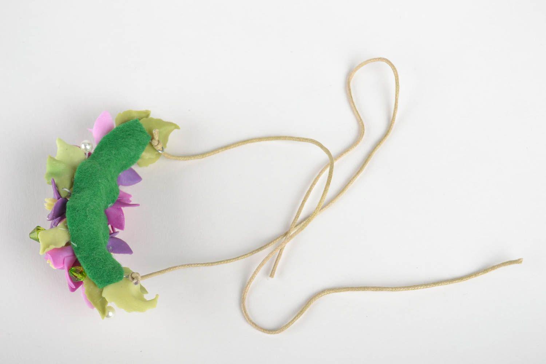 Schmuck Collier handmade Damen Halskette Halsschmuck für Damen mit Blumen lila foto 2