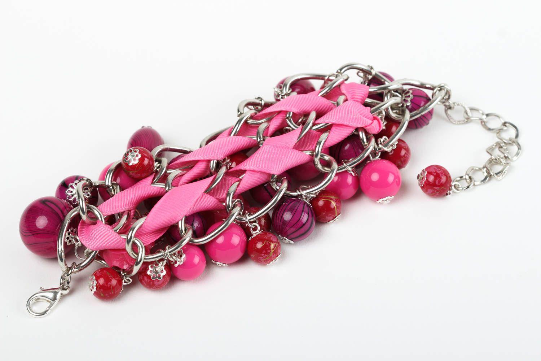 Handmade Schmuck Accessoire für Frauen Armband Damen Mode Schmuck rosa foto 4