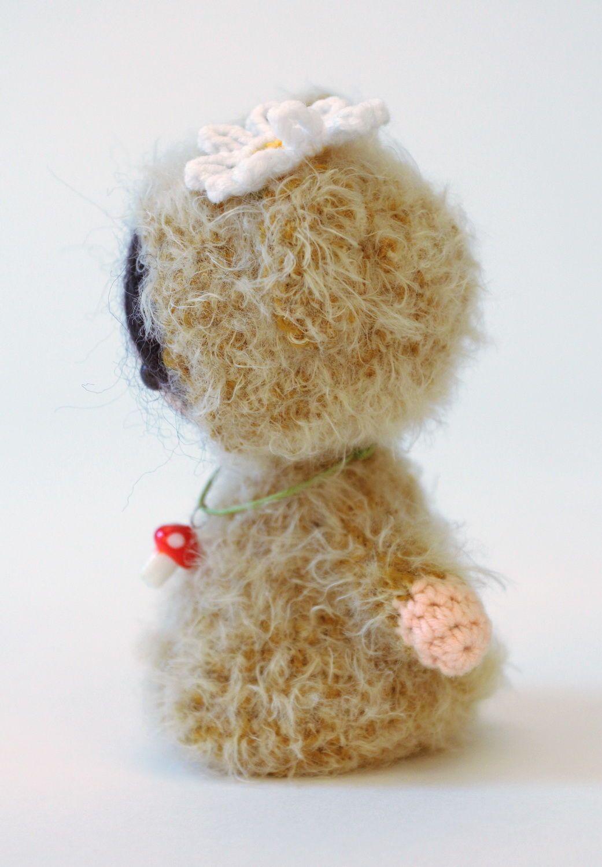 Игрушка вязаная Девочка-мишка фото 2