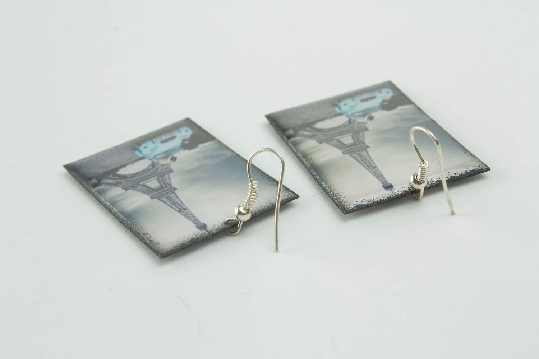 Photo earrings Eiffel Tower photo 2