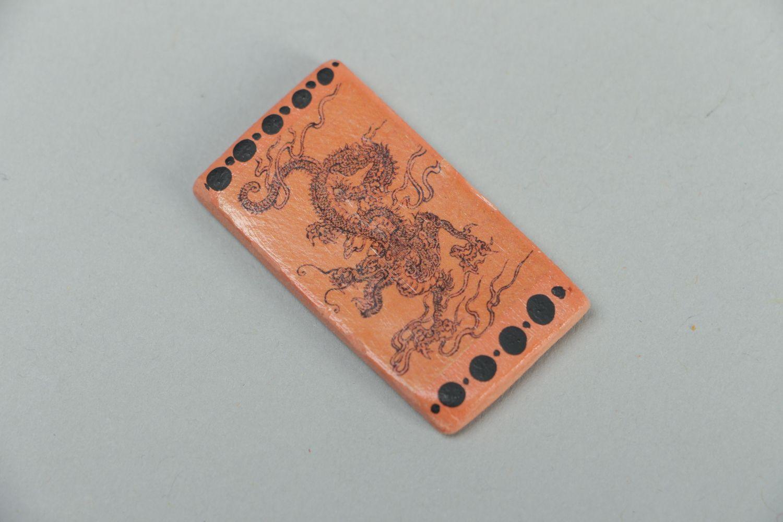 Polymer clay fridge magnet Dragon photo 1