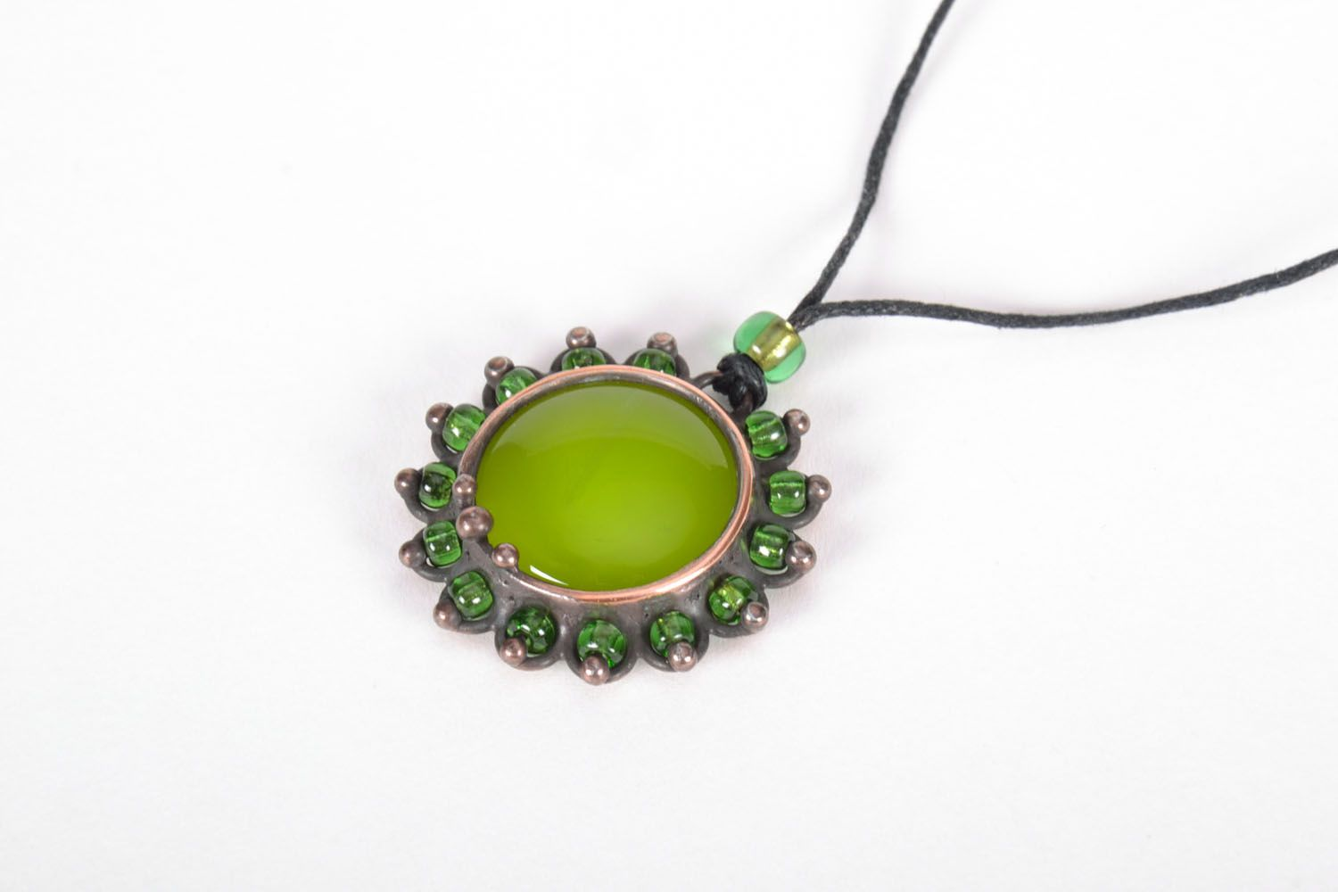 Stained-glass pendant Olive photo 2