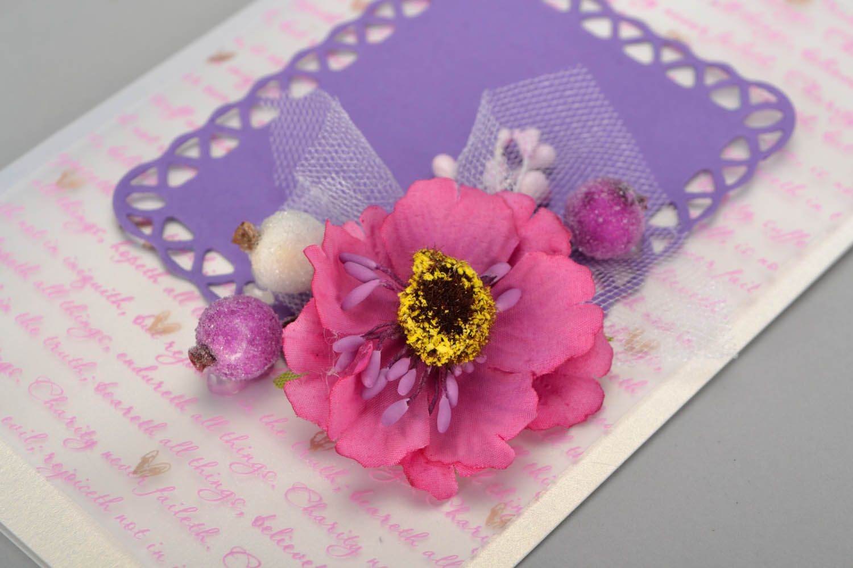 Decorative postcard with flowers  photo 2