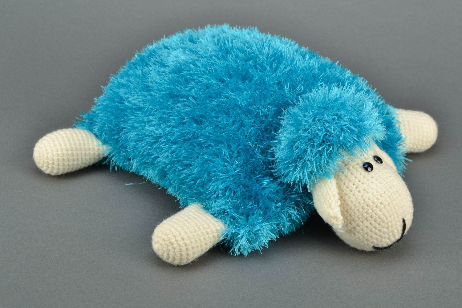 Soft pillow pet in the shape of sheep Turquoise photo 1