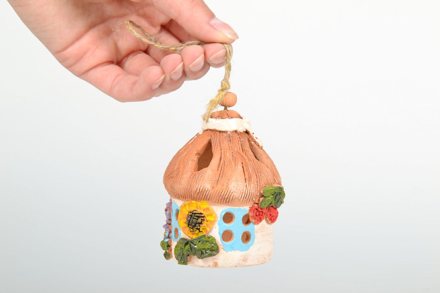 Ceramic painted bell photo 5