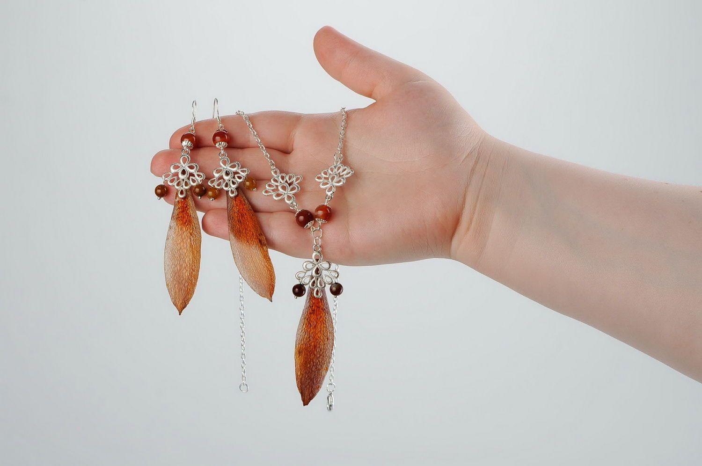 conjuntos de jóias Conjunto de jóias (Brincos e colar) - MADEheart.com