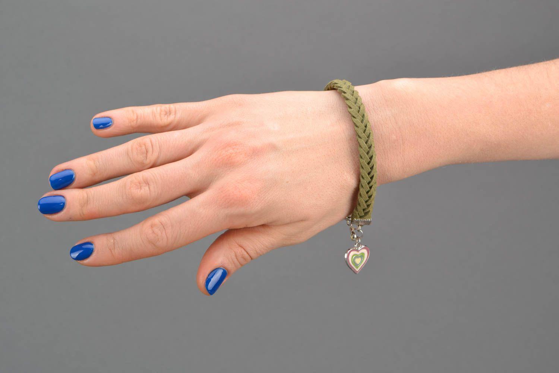 Woven suede bracelet for wrist photo 2