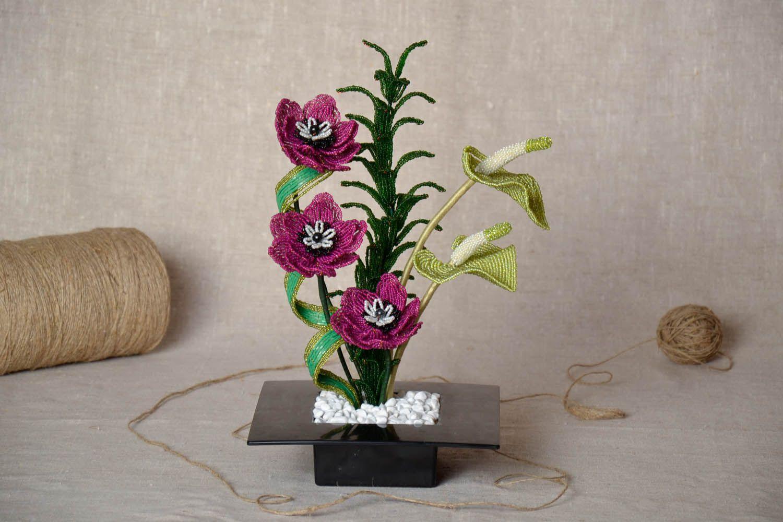 Цветы из бисера своими руками на подарок 35