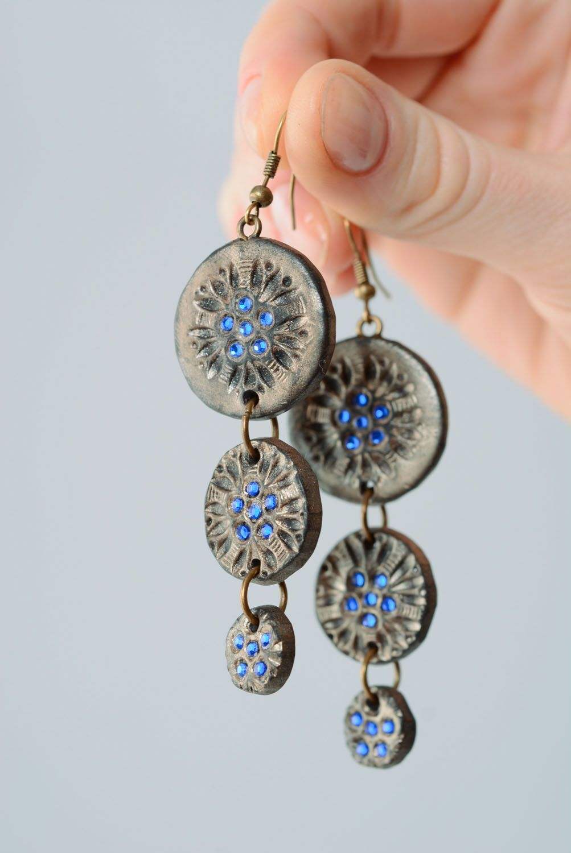 Fashionable polymer clay earrings photo 4