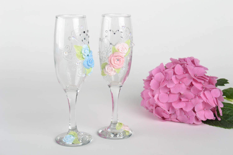 Madeheart copas para boda hechos a mano vasos de cristal for Copas decoradas a mano