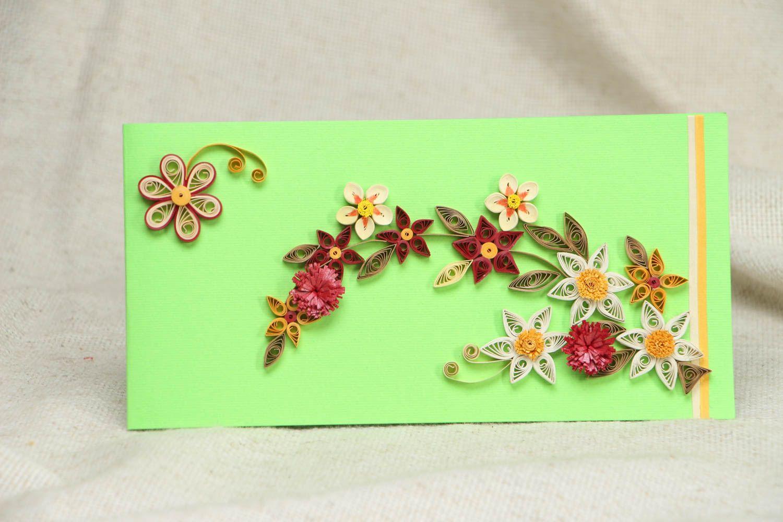 Unusual rectangular handmade greeting card photo 1