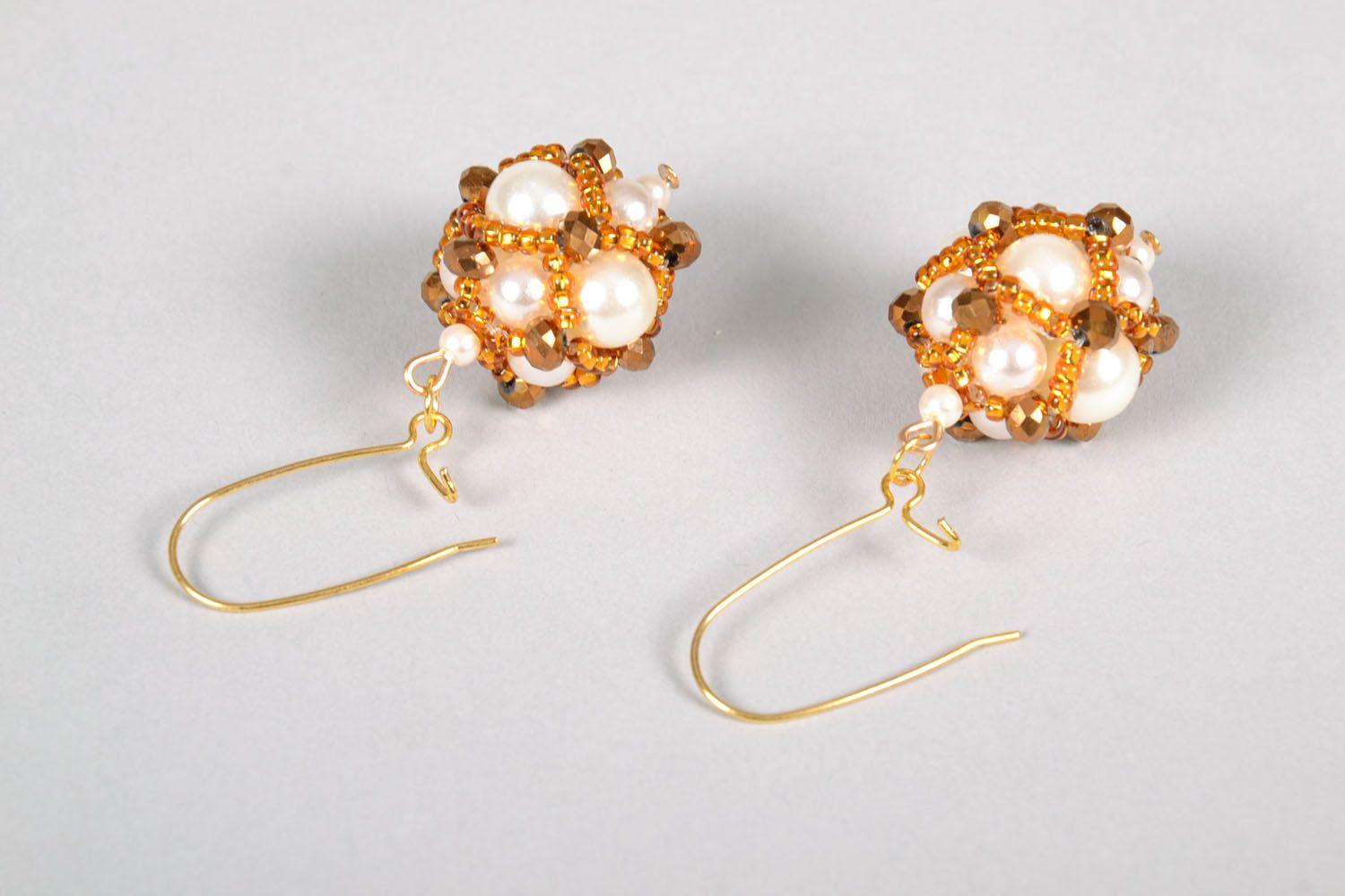 Unusual earrings with charms Golden East photo 4