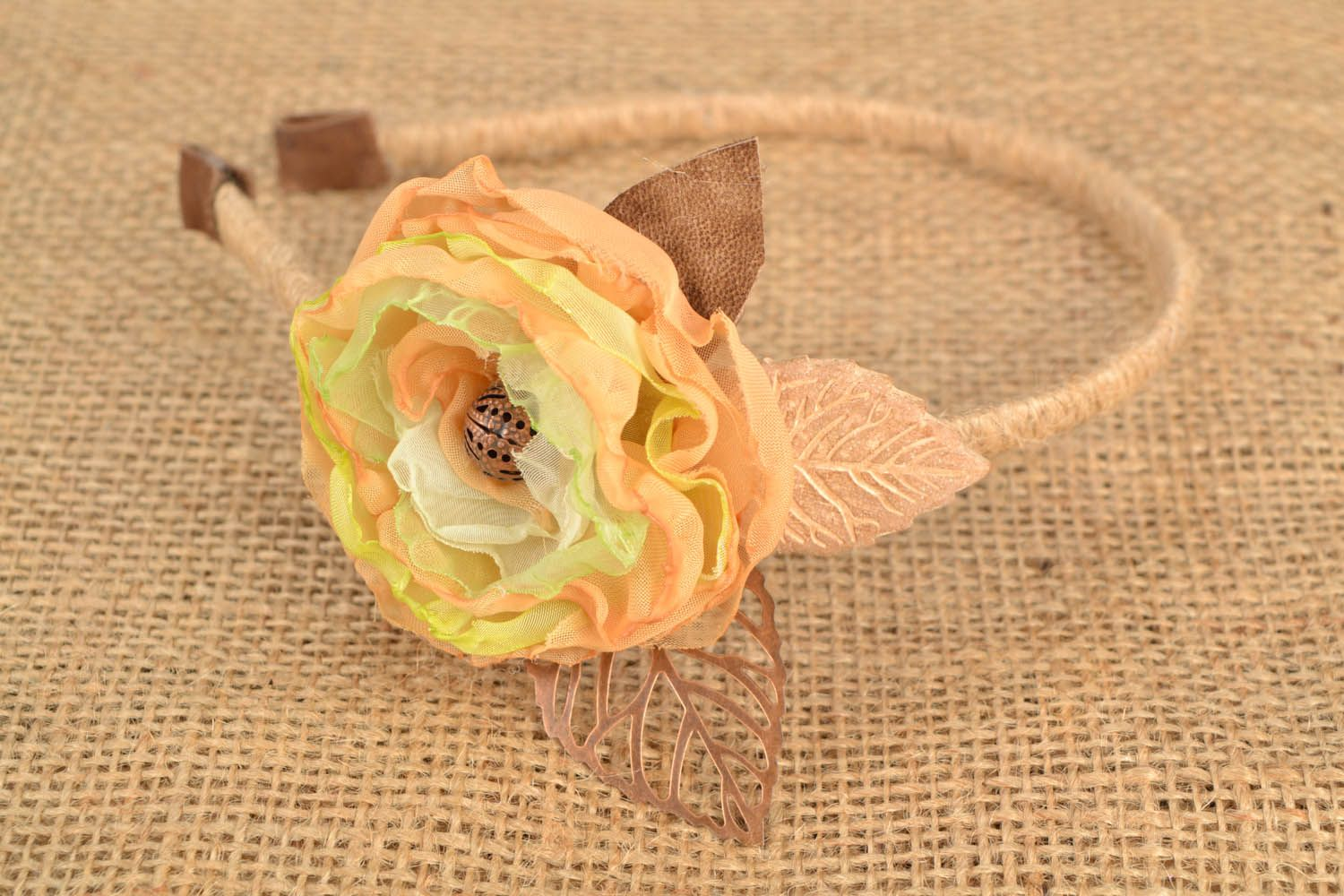 Head band with flower photo 1