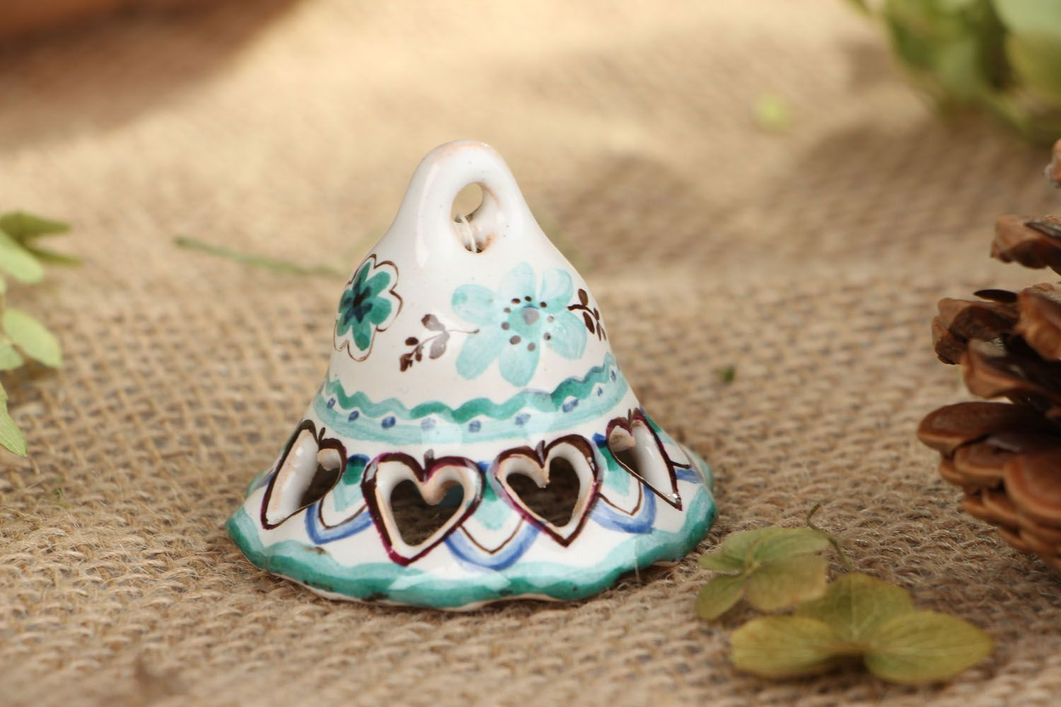 Small clay bell photo 5