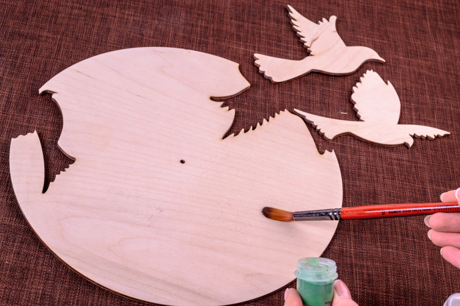 chipboards Blank for creativity handmade wall clock decoupage wall clock blank for painting - MADEheart.com