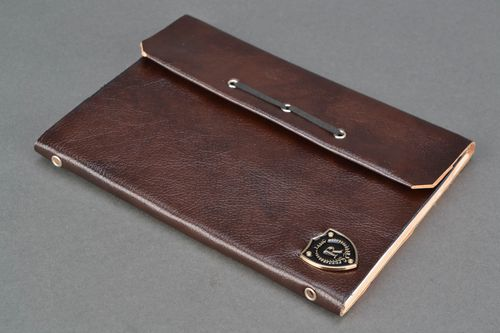 Designer notebook with artificial leather cover - MADEheart.com
