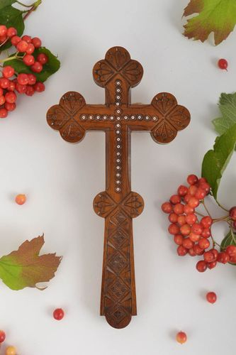 Rustic wall decor wooden cross handmade home decor wall cross inspirational gift - MADEheart.com