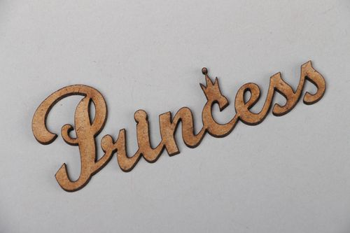 Plywood chipboard lettering for decor Princess - MADEheart.com