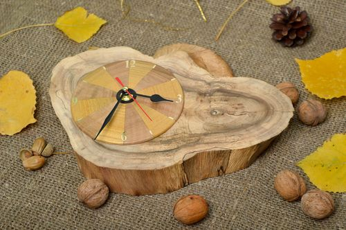 Handmade clock unusual clock for kitchen decor designer clock for wall decor - MADEheart.com