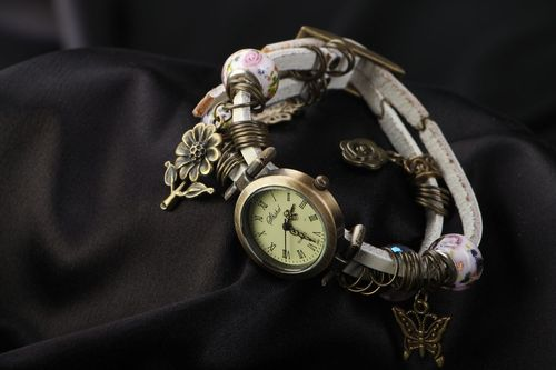 Unusual watch with charms - MADEheart.com