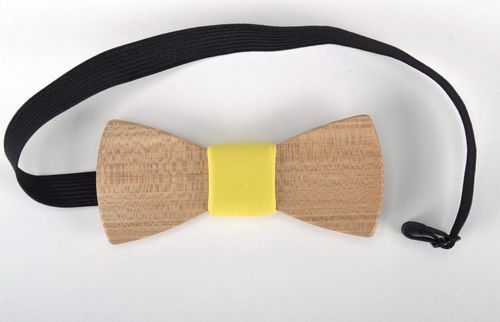 Wooden bow tie - MADEheart.com