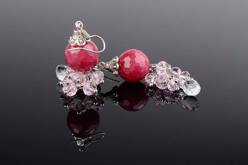Earrings Cranberry in the Ice - MADEheart.com