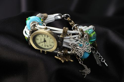 Handmade wrist watch for women beautiful quartz wrist watch - MADEheart.com