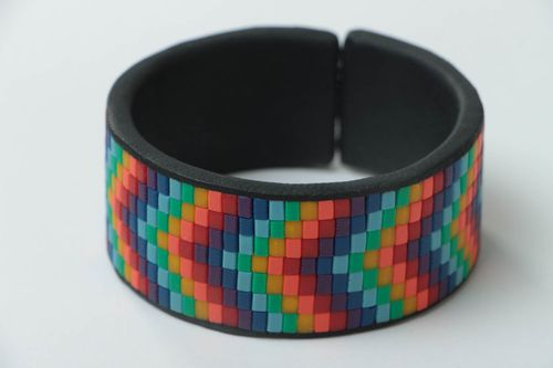 Stylish handmade plastic bracelet accessories for girls artisan jewelry designs - MADEheart.com